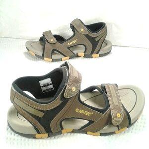 Hi-Tec brown and yellow GT Strap Jr. sandals